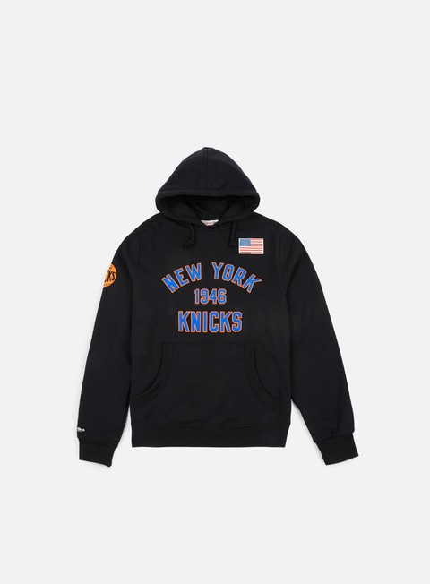 felpe mitchell e ness established year hoody ny knicks black