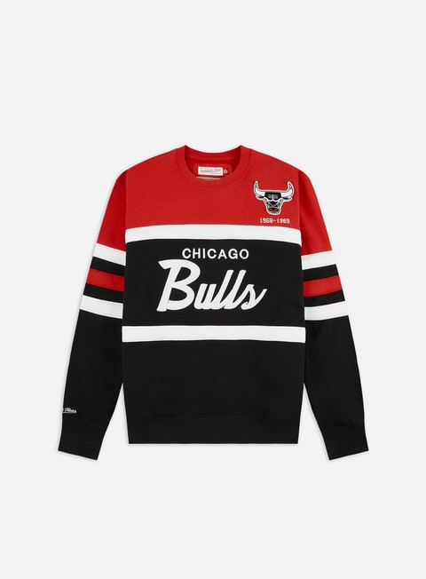 Felpe Girocollo Mitchell & Ness Head Coach Crewneck Chicago Bulls