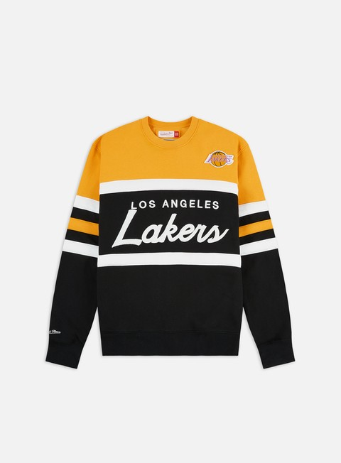 Outlet e Saldi Felpe Girocollo Mitchell & Ness Head Coach Crewneck LA Lakers