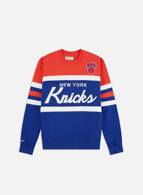Outlet e Saldi Felpe Girocollo Mitchell & Ness Head Coach Crewneck New York Knicks