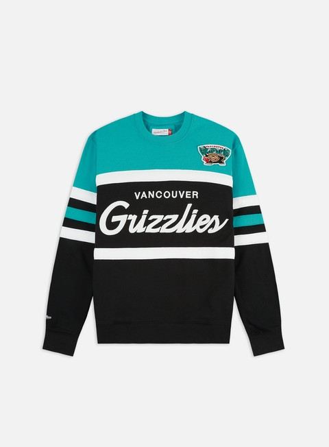 Mitchell & Ness Head Coach Crewneck Vancouver Grizzlies