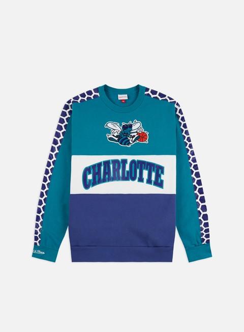 Outlet e Saldi Felpe Girocollo Mitchell & Ness Leading Scorer Fleece Crewneck Charlotte Hornets