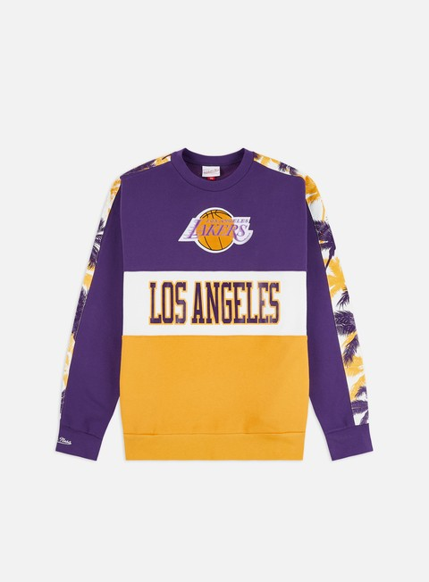 Crewneck Sweatshirts Mitchell & Ness Leading Scorer Fleece Crewneck Los Angeles Lakers