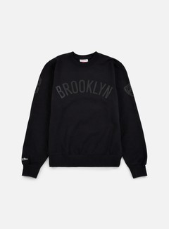 Mitchell & Ness - NBA Bank Shot Crewneck Brooklyn Nets, Black 1