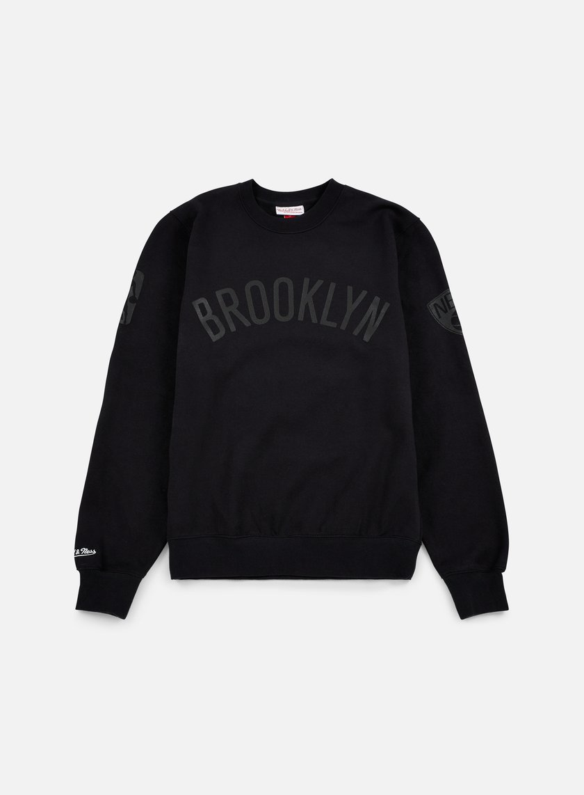 Mitchell & Ness - NBA Bank Shot Crewneck Brooklyn Nets, Black