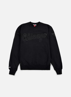 Mitchell & Ness - NBA Bank Shot Crewneck Chicago Bulls, Black 1