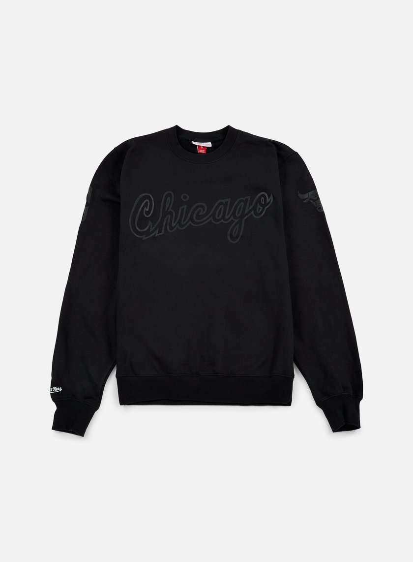 Mitchell & Ness - NBA Bank Shot Crewneck Chicago Bulls, Black