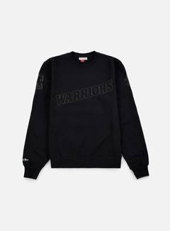 Mitchell & Ness - NBA Bank Shot Crewneck Golden State Warriors, Black 1