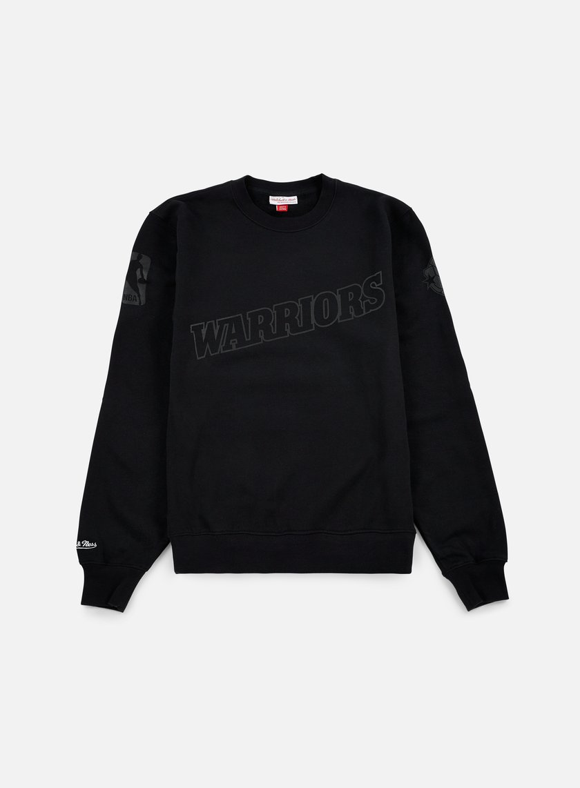 Mitchell & Ness - NBA Bank Shot Crewneck Golden State Warriors, Black