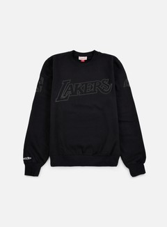 Mitchell & Ness - NBA Bank Shot Crewneck LA Lakers, Black 1