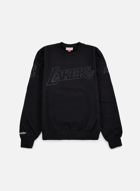 felpe mitchell e ness nba bank shot crewneck la lakers black