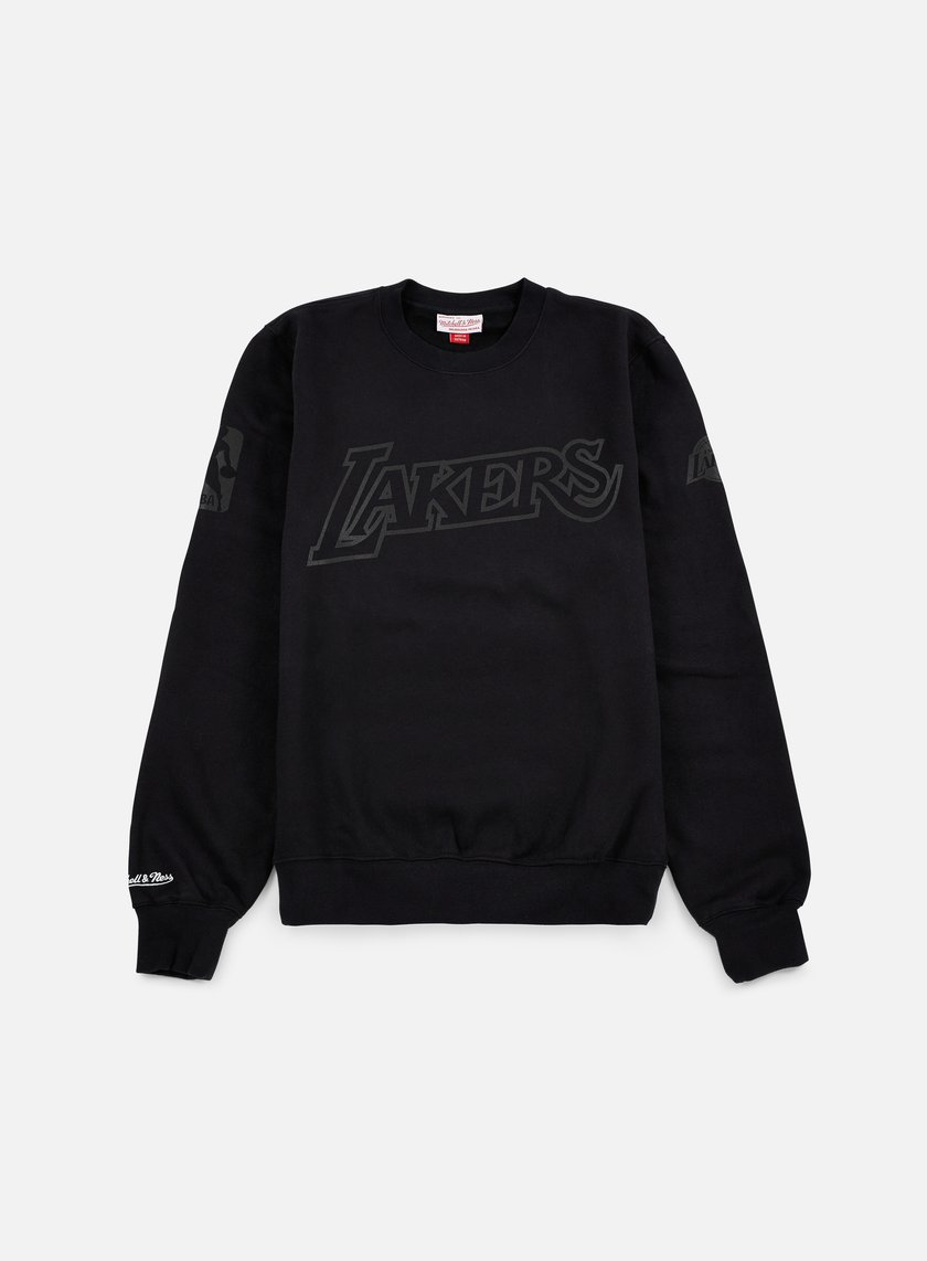 Mitchell & Ness - NBA Bank Shot Crewneck LA Lakers, Black