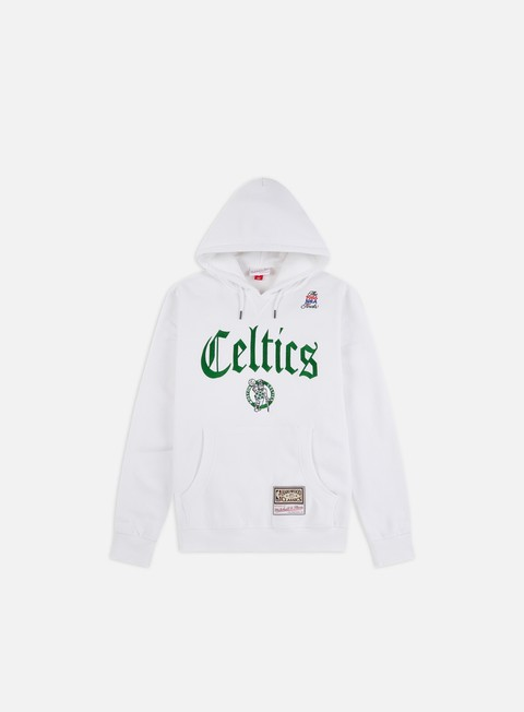 Felpe con Cappuccio Mitchell & Ness NBA Old English Faded Hoodie Boston Celtics