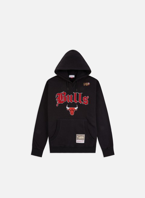 Hoodie Mitchell & Ness NBA Old English Faded Hoodie Chicago Bulls