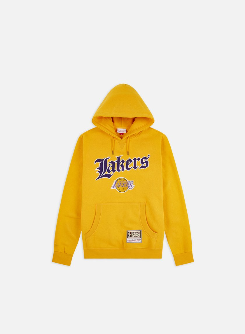 Mitchell & Ness NBA Old English Faded Hoodie Los Angeles Lakers