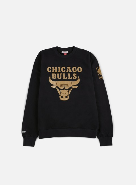 felpe mitchell e ness nba winning percentage crewneck chicago bulls black
