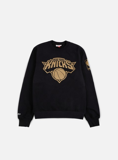 felpe mitchell e ness nba winning percentage crewneck ny knicks black