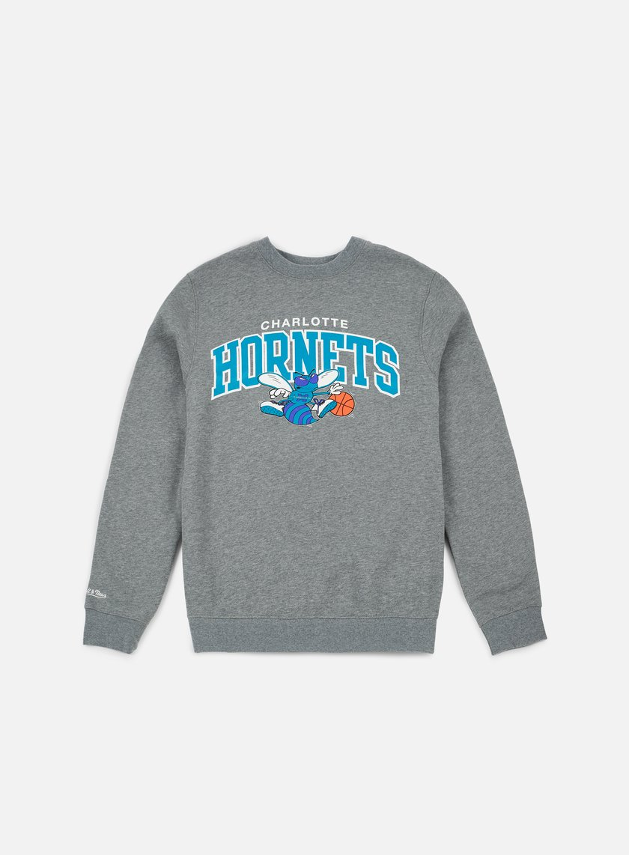 Mitchell & Ness Team Arch Crewneck Charlotte Hornets