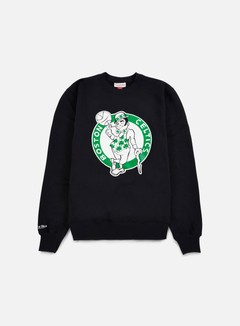 Mitchell & Ness - Team Logo Crewneck Boston Celtics, Black 1