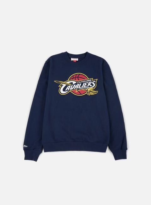Felpe Girocollo Mitchell & Ness Team Logo Crewneck Cleveland Cavaliers