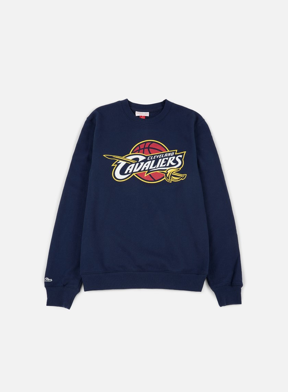 Mitchell & Ness - Team Logo Crewneck Cleveland Cavaliers, Navy