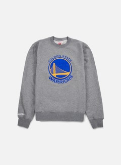 Mitchell & Ness - Team Logo Crewneck Golden State Warriors, Grey 1