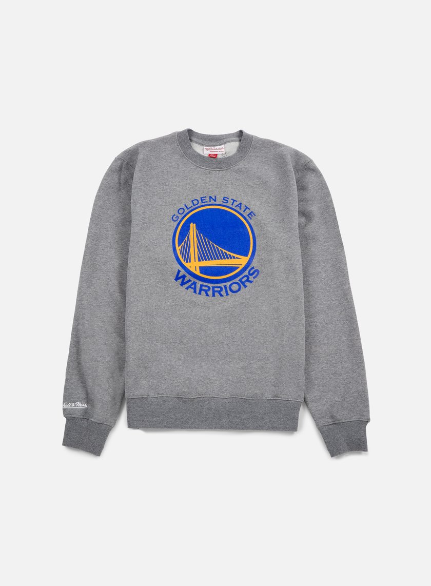Mitchell & Ness - Team Logo Crewneck Golden State Warriors, Grey