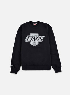Mitchell & Ness - Team Logo Crewneck LA Kings, Black 1