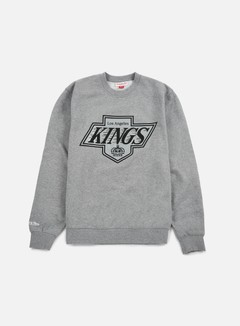 Mitchell & Ness - Team Logo Crewneck LA Kings, Grey 1