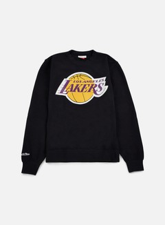 Mitchell & Ness - Team Logo Crewneck LA Lakers, Black 1
