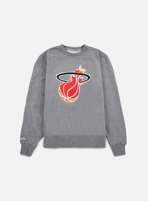 Crewneck Sweatshirts Mitchell & Ness Team Logo Crewneck Miami Heat