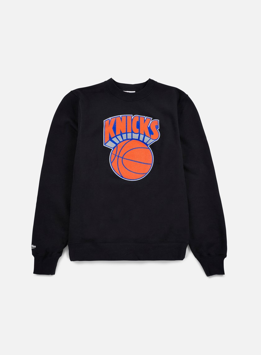 Mitchell & Ness - Team Logo Crewneck NY Knicks, Black