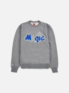 Mitchell & Ness - Team Logo Crewneck Orlando Magic, Grey 1