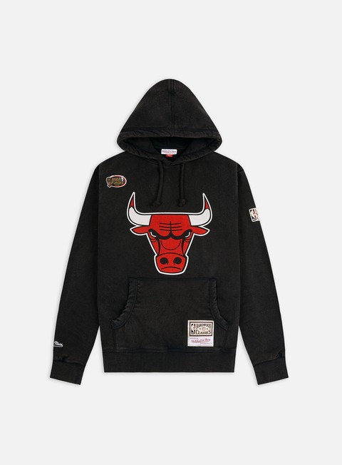 Hooded Sweatshirts Mitchell & Ness Worn Logo/Wordmark Hoodie Chicago Bulls