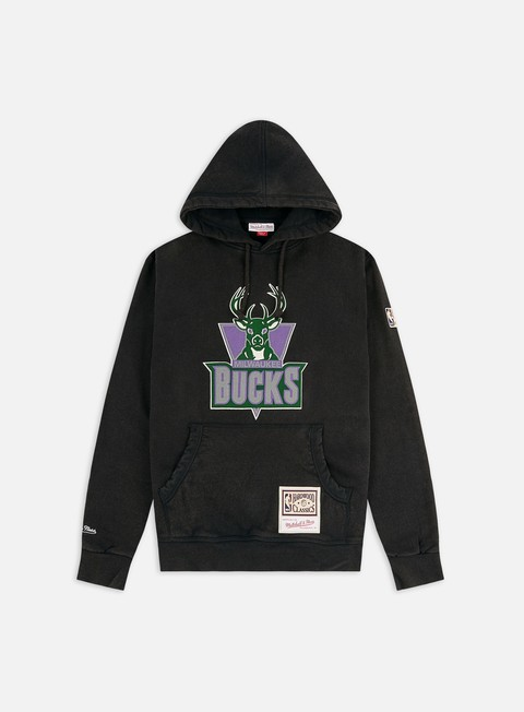 Felpe con Cappuccio Mitchell & Ness Worn Logo/Wordmark Hoodie Milwaukee Bucks