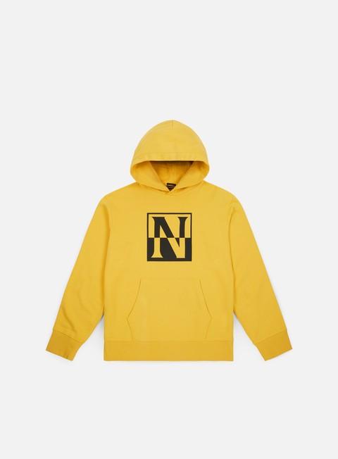 felpe napapijri baoding hoodie spark yellow