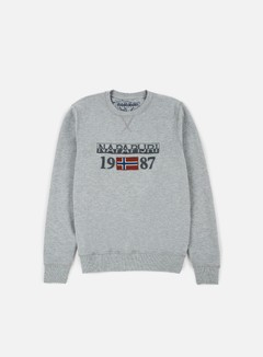 Napapijri - Berthow Crewneck, Medium Grey Melange 1