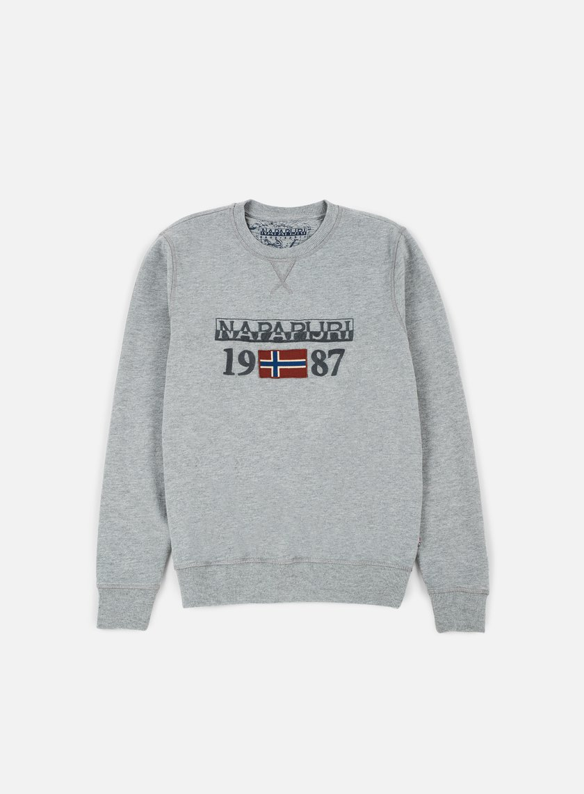 Napapijri - Berthow Crewneck, Medium Grey Melange