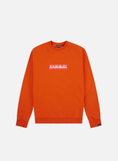 Napapijri - Box Crewneck, Orange Puffin