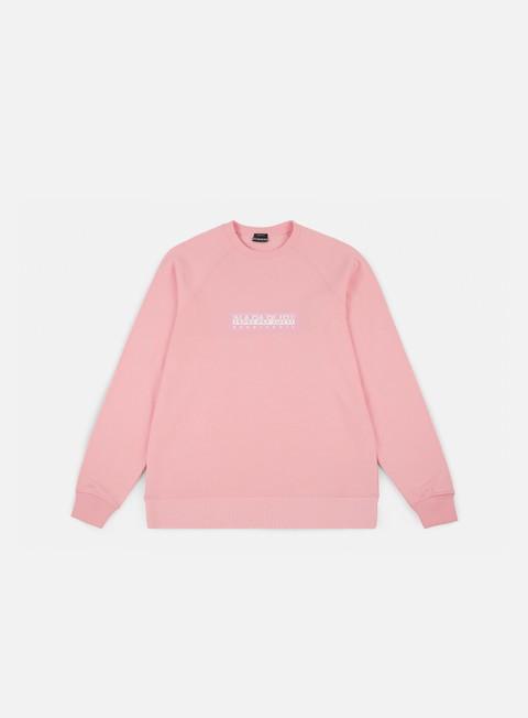 felpe napapijri buka crewneck light pink