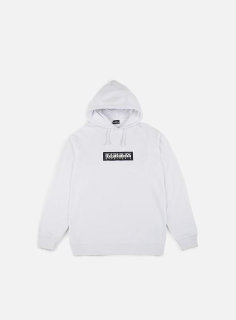 felpe napapijri buka hoodie bright white