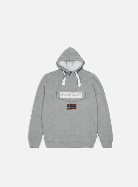 felpe napapijri burgee 1 hoodie medium grey melange