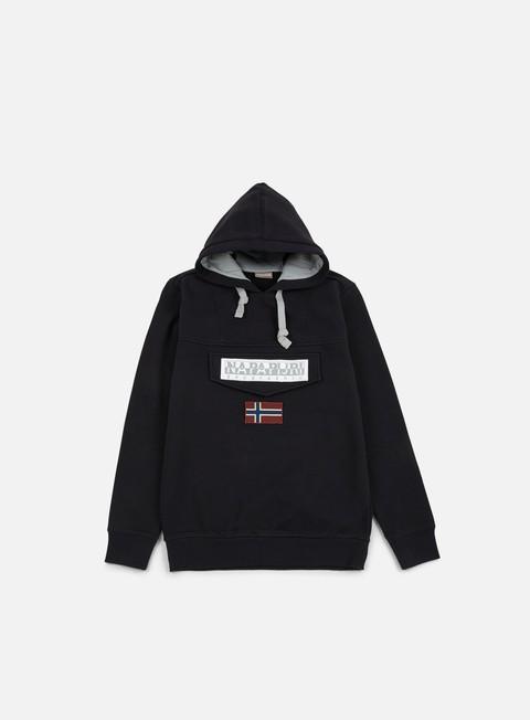felpe napapijri burgee hoodie black