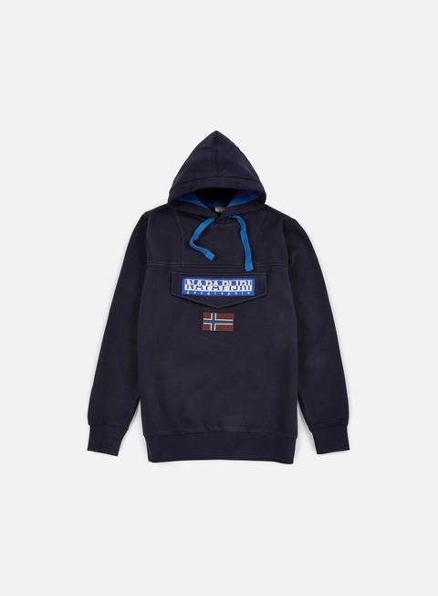 felpe napapijri burgee hoodie blu marine