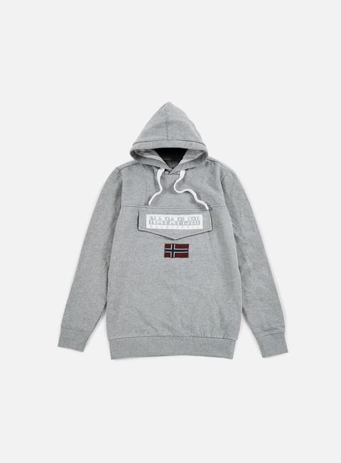 felpe napapijri burgee hoodie medium grey melange