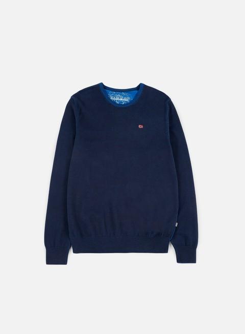 felpe napapijri dakshin crewneck sweater blu marine