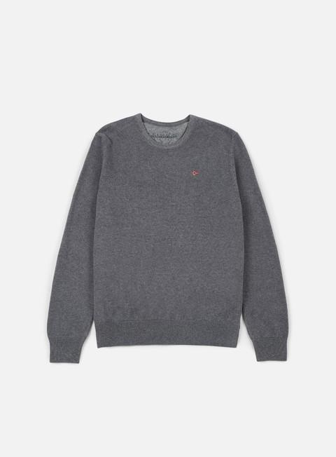 felpe napapijri dakshin crewneck sweater dark grey melange