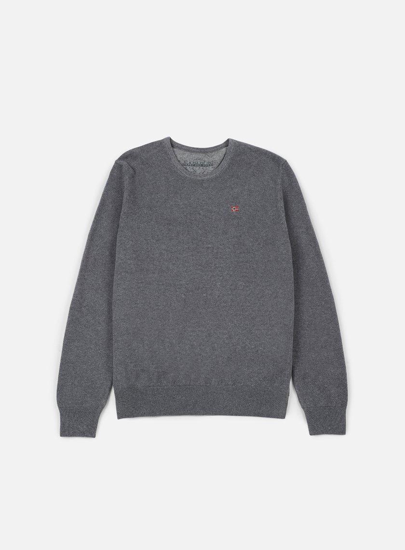 Napapijri - Dakshin Crewneck Sweater, Dark Grey Melange