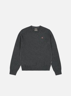 Napapijri - Damavand Crewneck Sweater, Dark Grey Melange