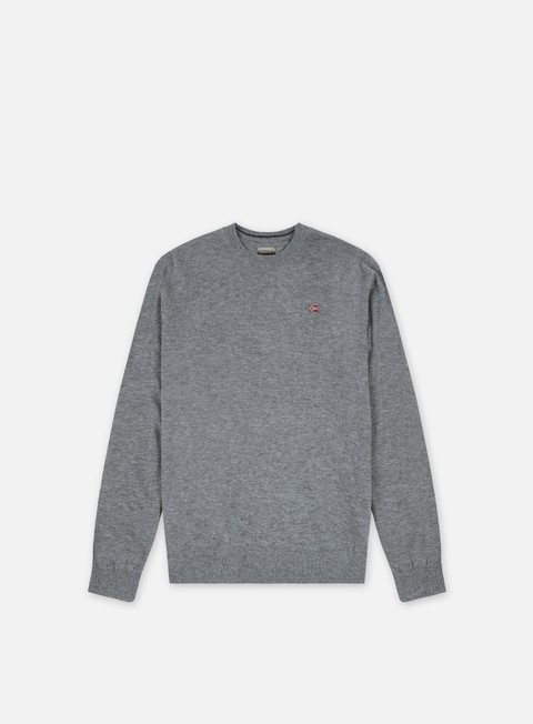 felpe napapijri damavand crewneck sweater medium grey melange